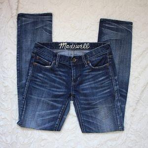 Madewell Rail Straight Jeans Size 26 Dark Wash